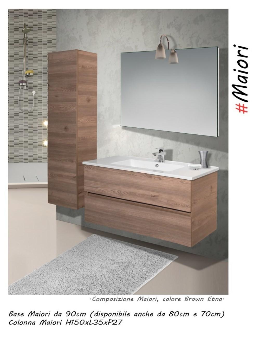 Mobile bagno maiori 80 centimetri nobilitato laminato - Mobile bagno laminato ...