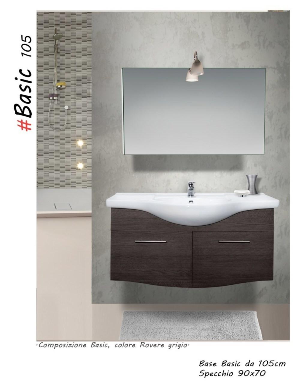 Mobile bagno basic 105 centimetri nobilitato laminato - Mobile bagno laminato ...