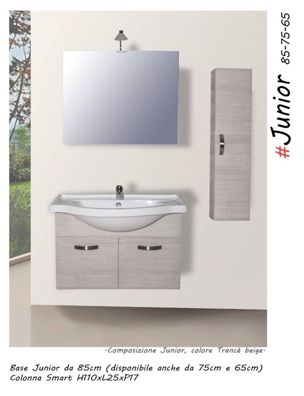 Mobile bagno junior105 centimetri nobilitato laminato disponibile colore mobile rovere grigio - Mobile bagno laminato ...