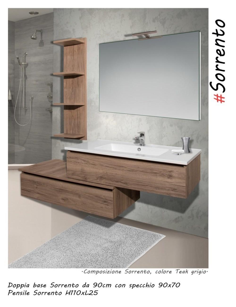 Mobile bagno sorrento 90 centimetri nobilitato laminato - Mobile bagno laminato ...